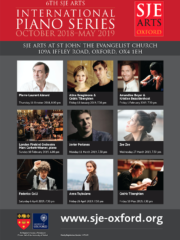 6th SJE Arts International Piano Series Season Tickets
